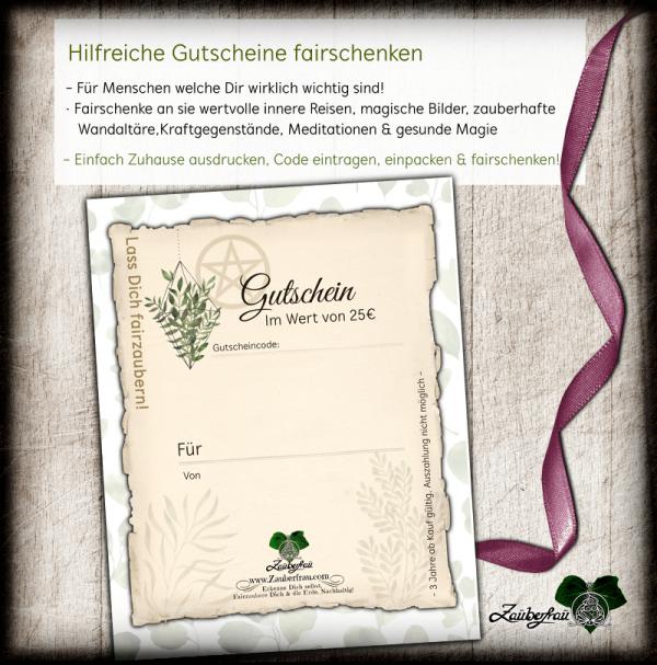 Zauberfrau Gutschein, Grün, 25€