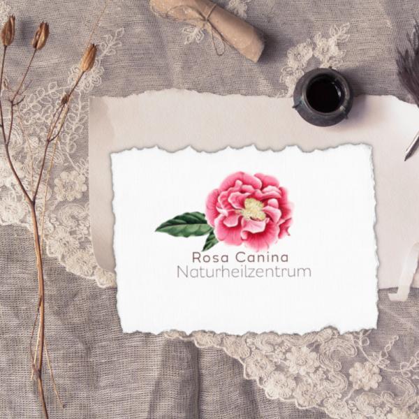 Beispiel: Logo Naturheilzentrum Rosa Canina