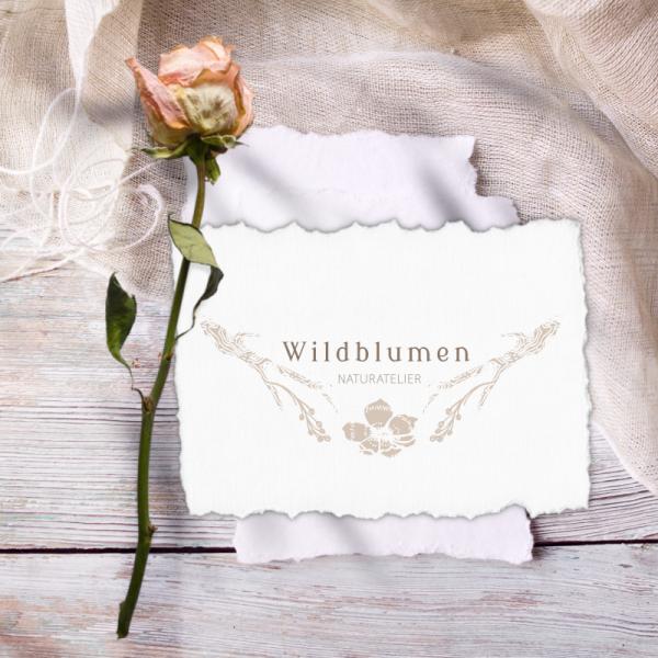 Beispiel: Logo für Naturatelier Wildblumen